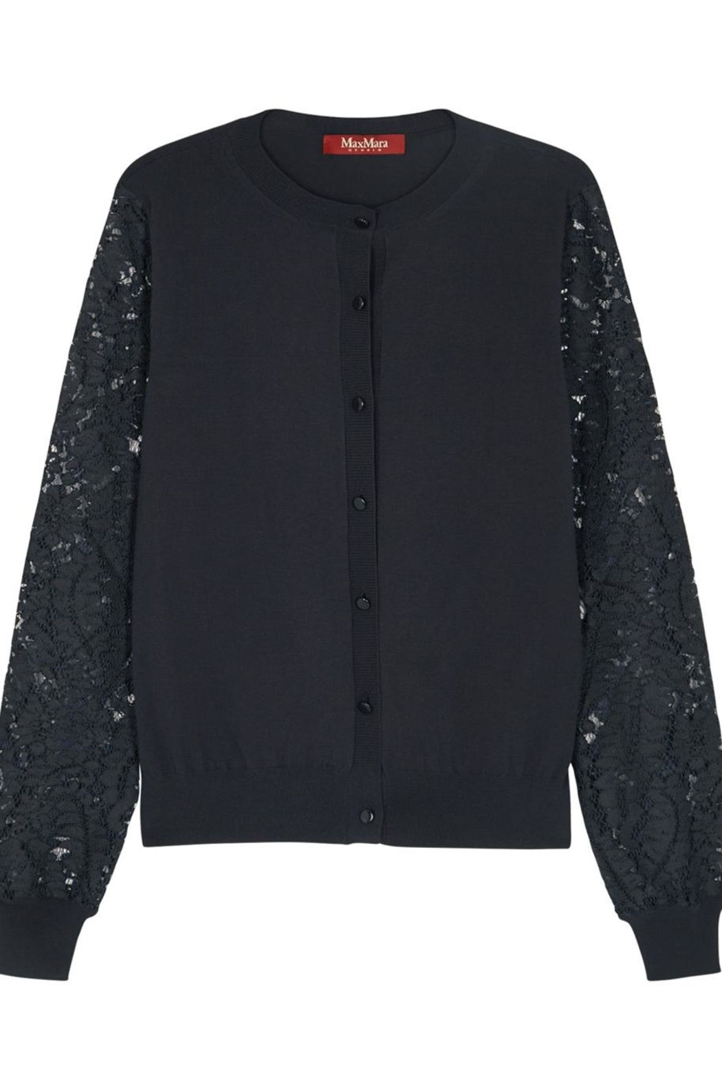 Max Mara Lace- Sleeved Cardigan - Side Cropped Image