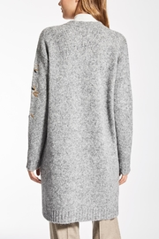 Max Mara Ribe Grey Cardigan - Front full body