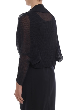 Max Mara Vesuvio Pleated Black Bolero - Alternate List Image