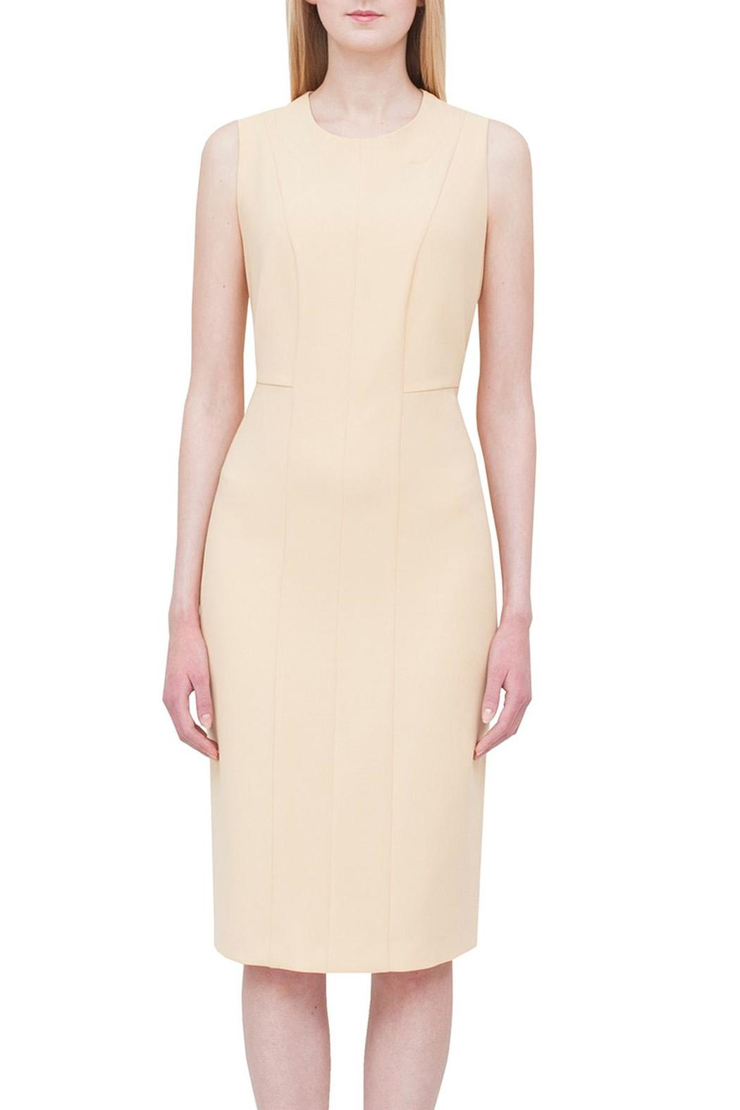Max Mara Studio Yellow Shift Dress Front Cropped Image