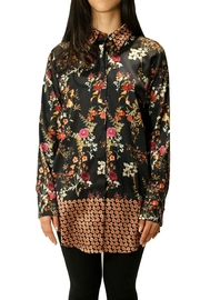 Max Volmary Floral Silk Blouse - Product Mini Image