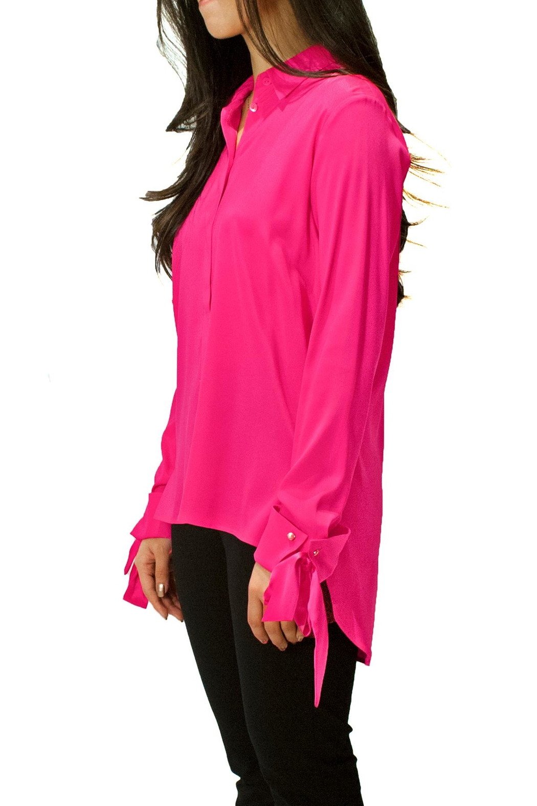 Max Volmary Silk Bow-Sleeve Blouse - Main Image