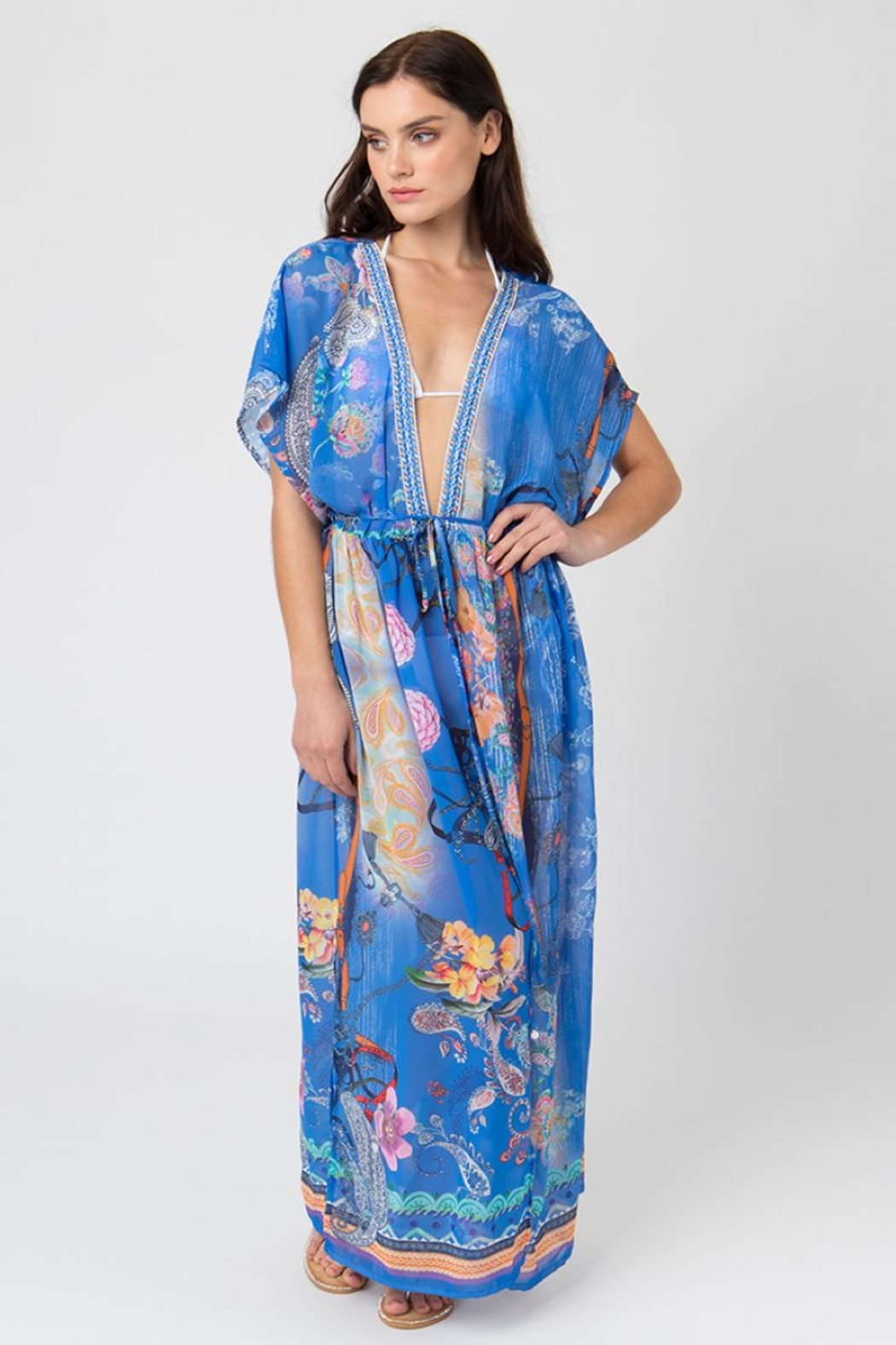 Pia Rossini Maxi Cover Up - Front Cropped Image