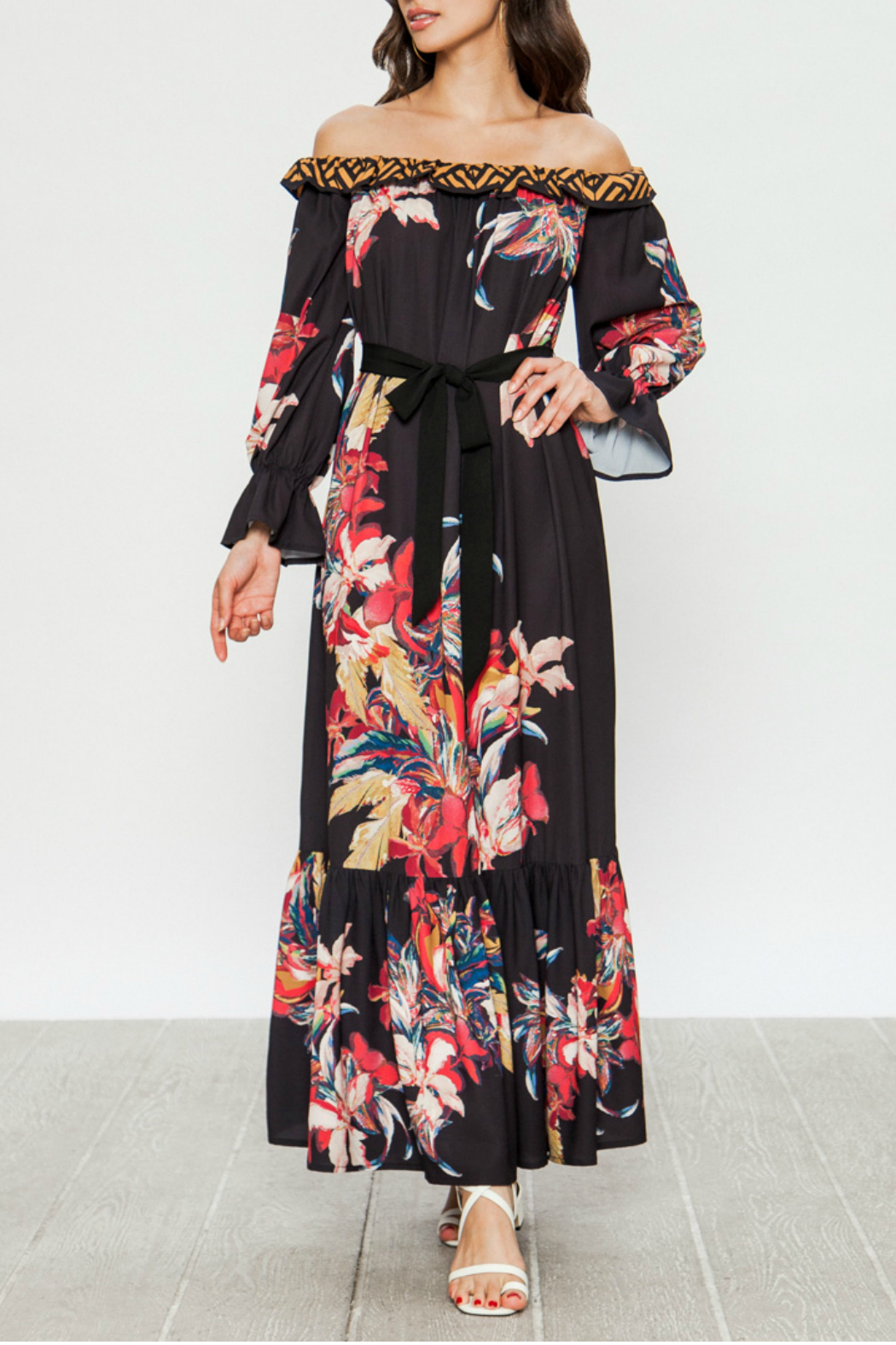 Flying Tomato Maxi dress with floral print - Main Image