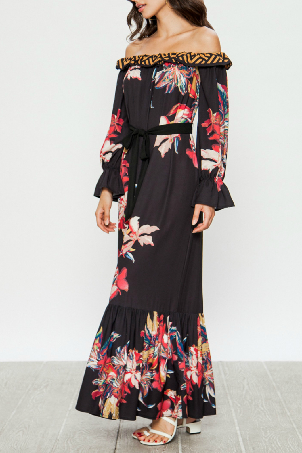 Flying Tomato Maxi dress with floral print - Front Full Image