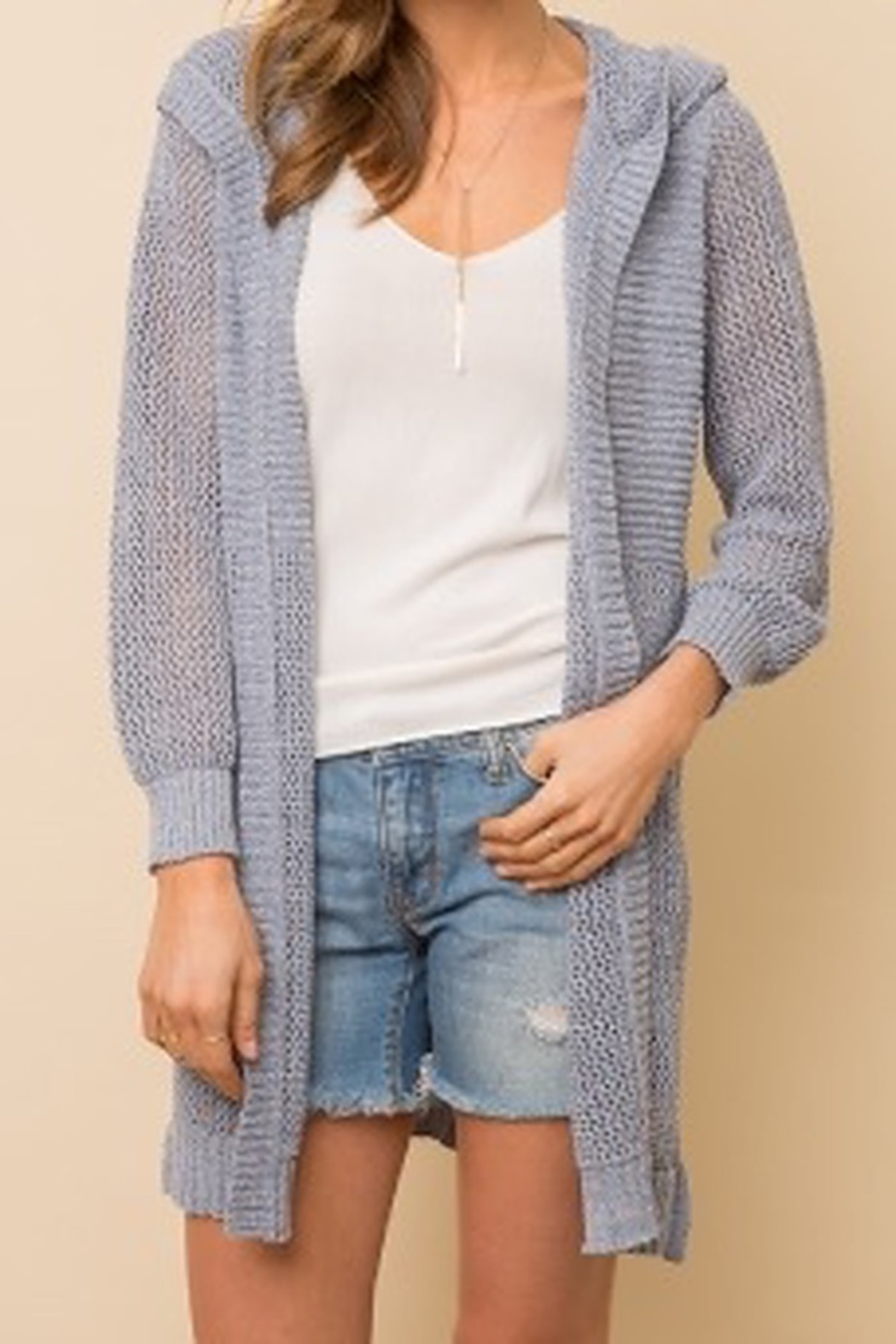 Mystree Maxi hood cardigan - Front Cropped Image