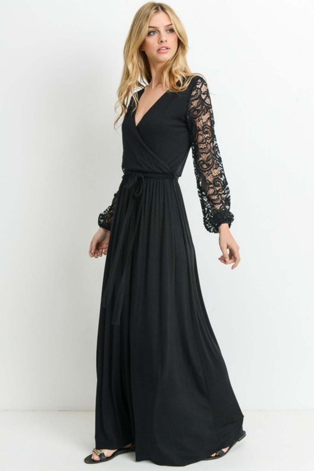Modern Emporium Maxi Lace Dress - Side Cropped Image