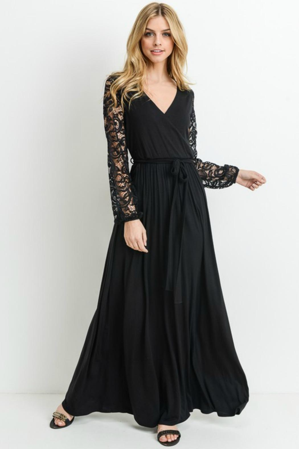 Modern Emporium Maxi Lace Dress - Front Cropped Image