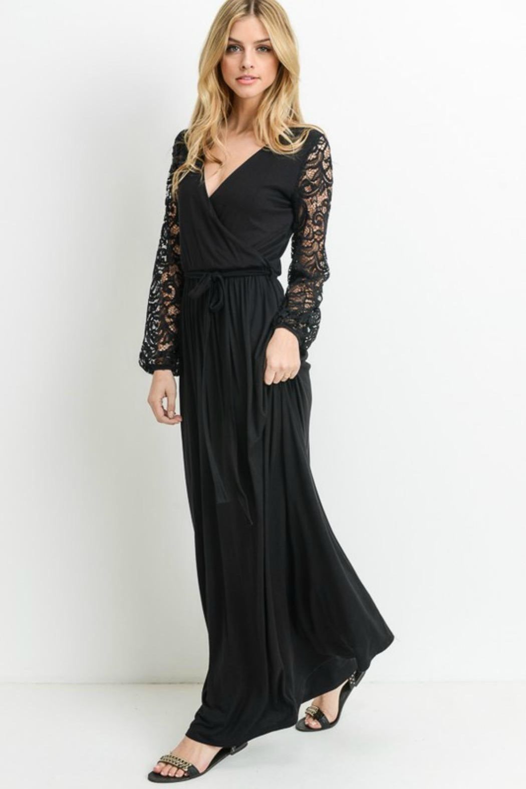 Modern Emporium Maxi Lace Dress - Back Cropped Image