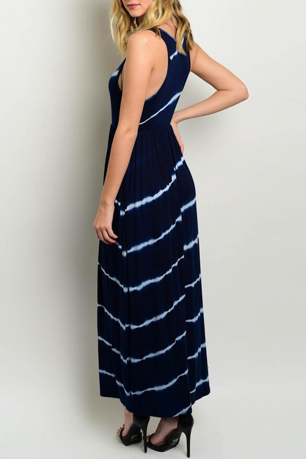 Interi Maxi Navy Dress - Front Full Image