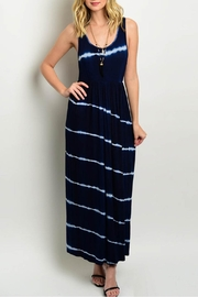 Interi Maxi Navy Dress - Front cropped