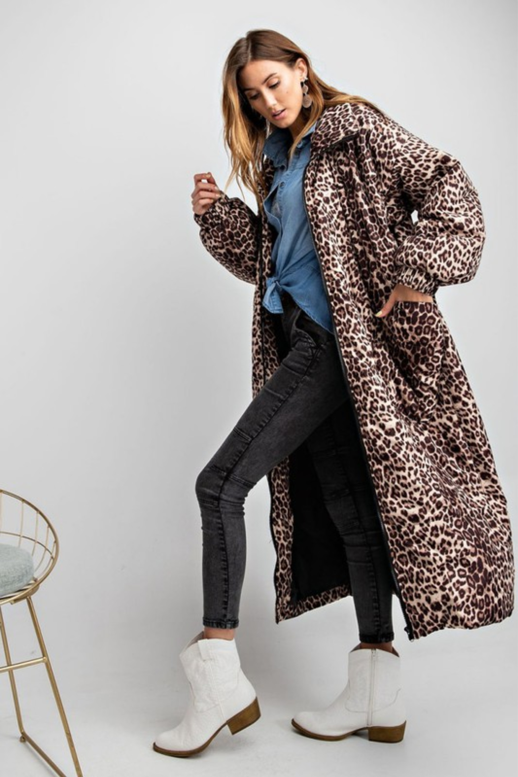 Olivaceous  Maxi Puffer Jacket - Main Image