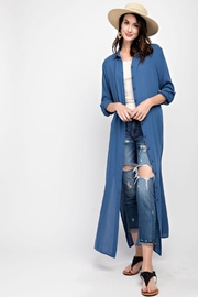 easel Maxi Shirt Dress - Side cropped