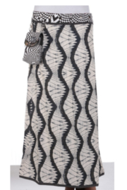 IBIZA Maxi Skirt with waist purse (sizes 0 to 12) - Front full body