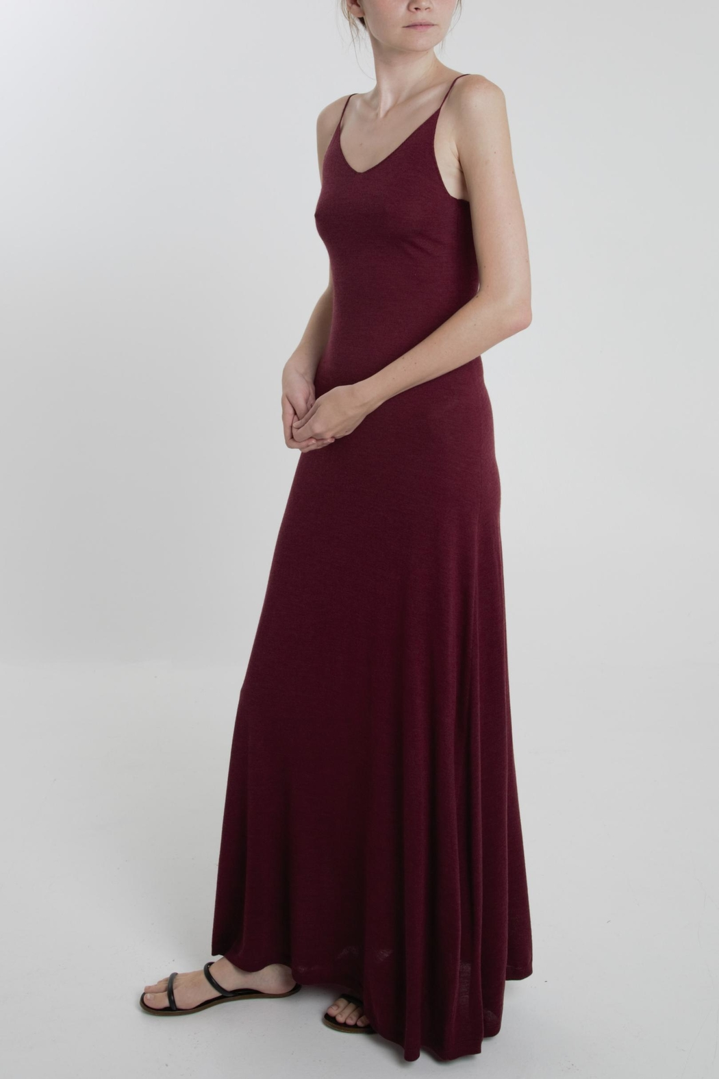 Thread+Onion Maxi Tank Dress - Front Cropped Image