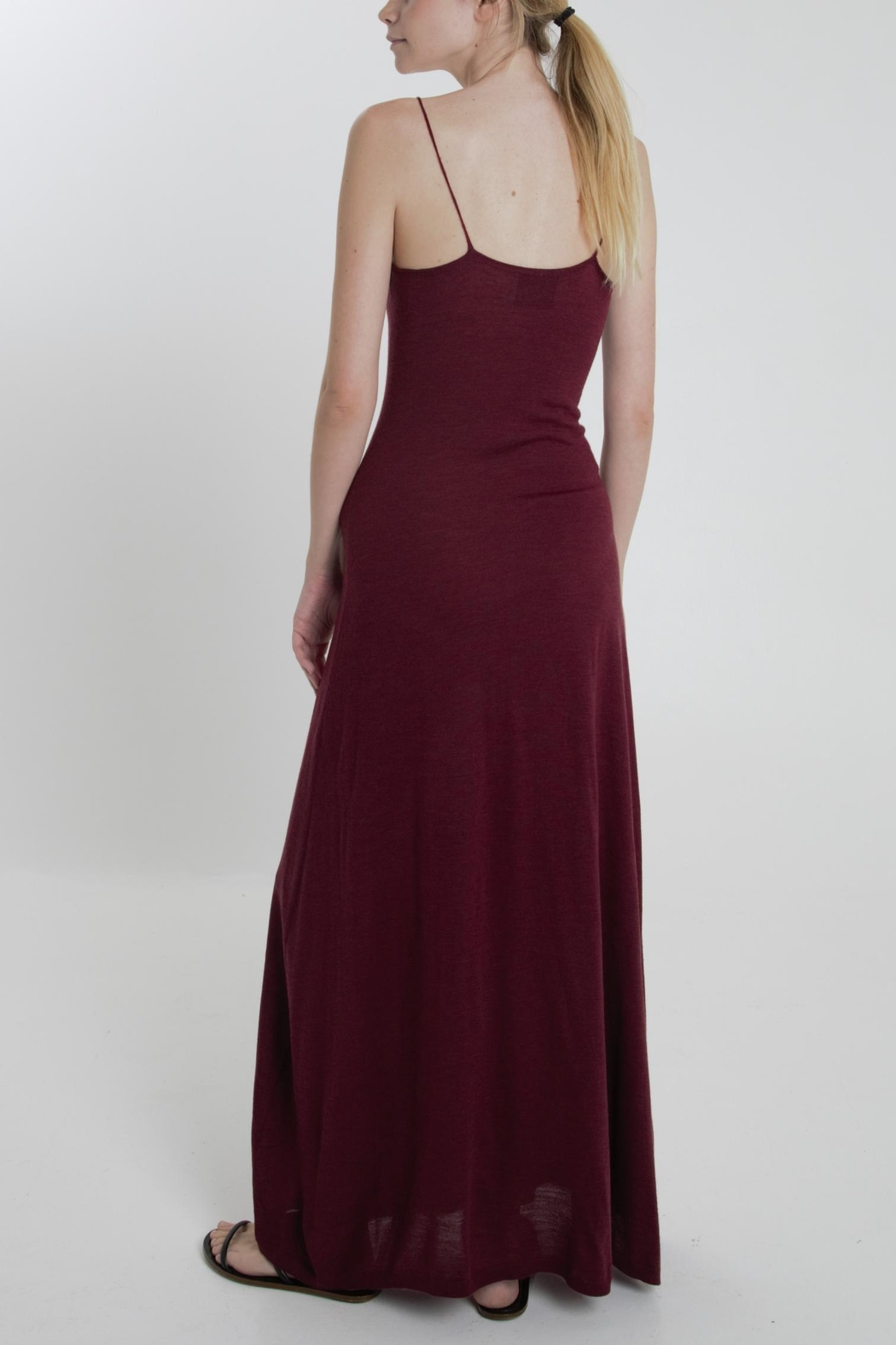 Thread+Onion Maxi Tank Dress - Side Cropped Image