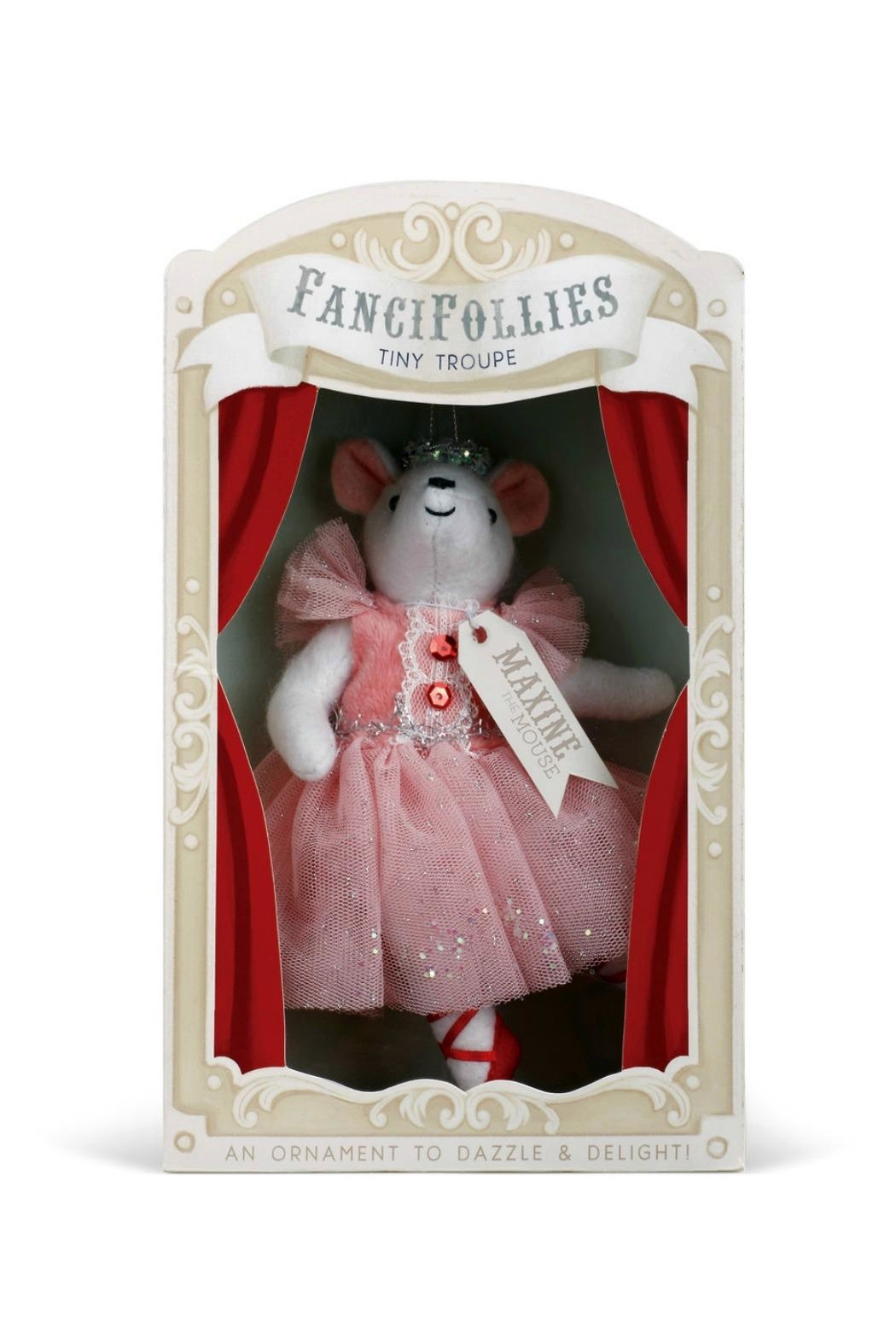 DEMDACO Maxine-The-Mouse-Clara-Ornament - Front Full Image