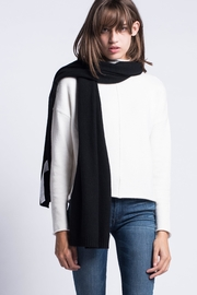 Maxmara Cashmere Scarf Black - Front full body