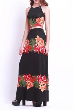 Shoptiques Product: Crop Floral Black