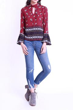 Maxtlii Floral Burgundy Blouse - Product List Image