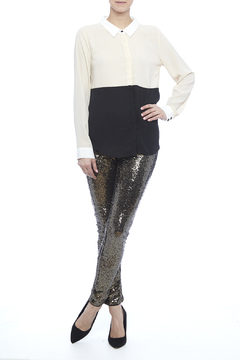 may & july Sequin Pants - Product List Image