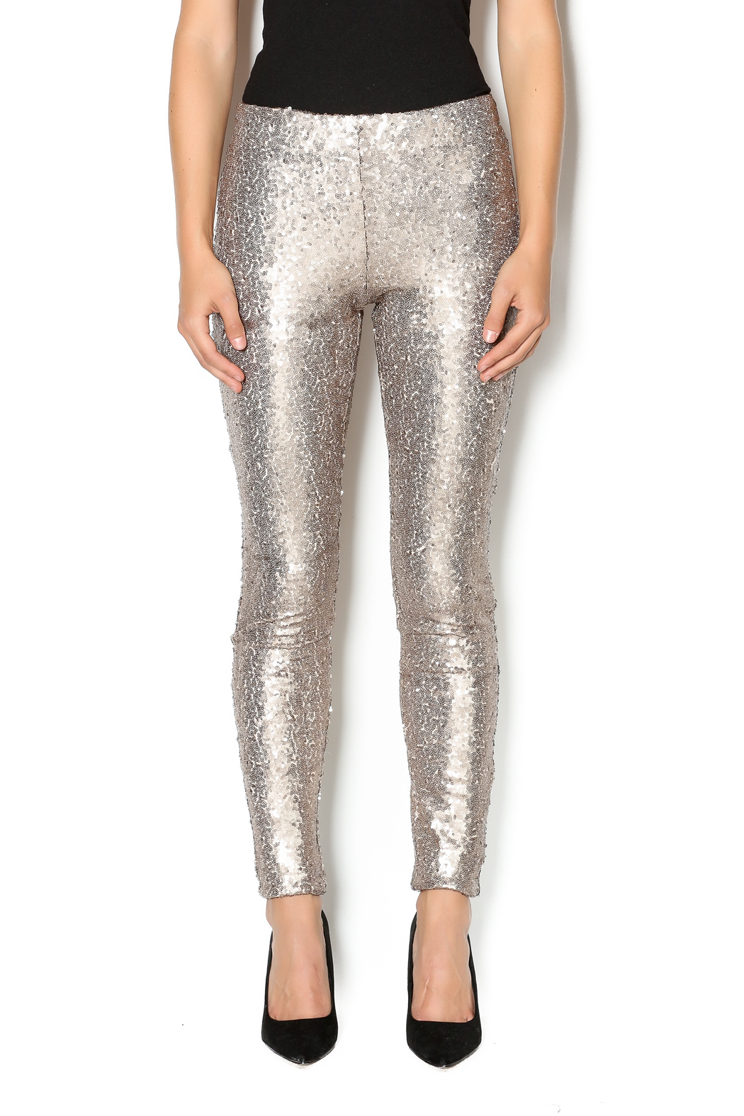 may and july inc Sequin Legging - Front Cropped Image