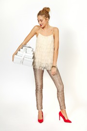 may and july inc Sequin Legging - Front full body