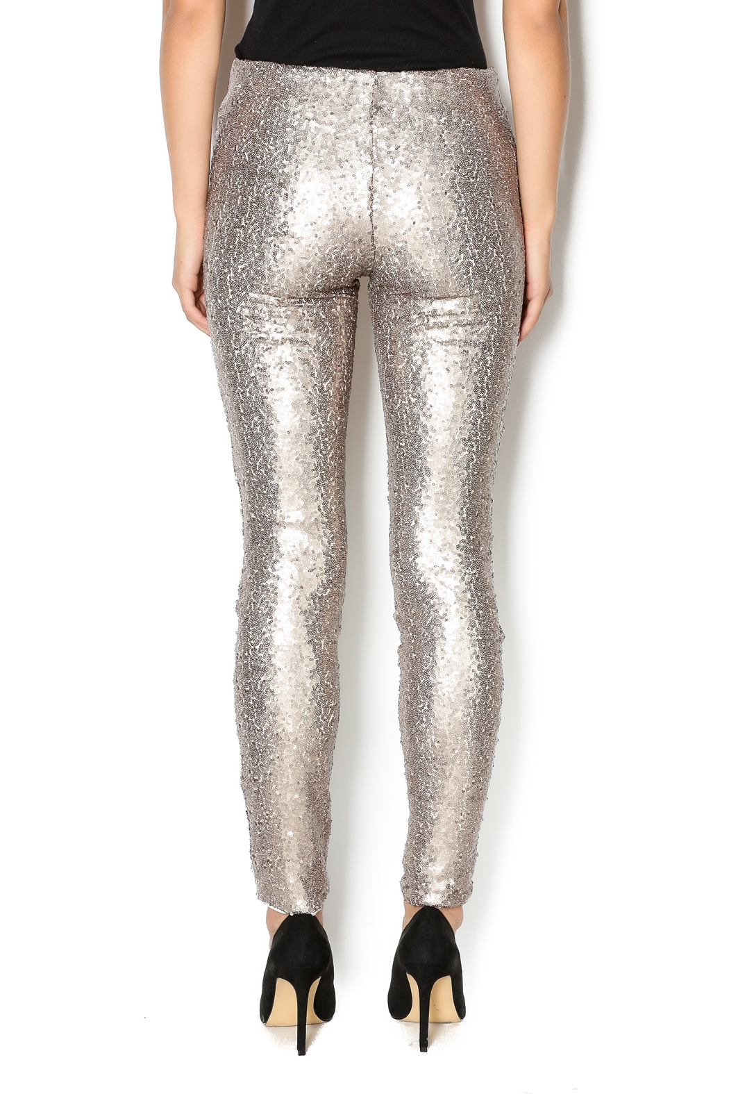 may and july inc Sequin Legging - Back Cropped Image