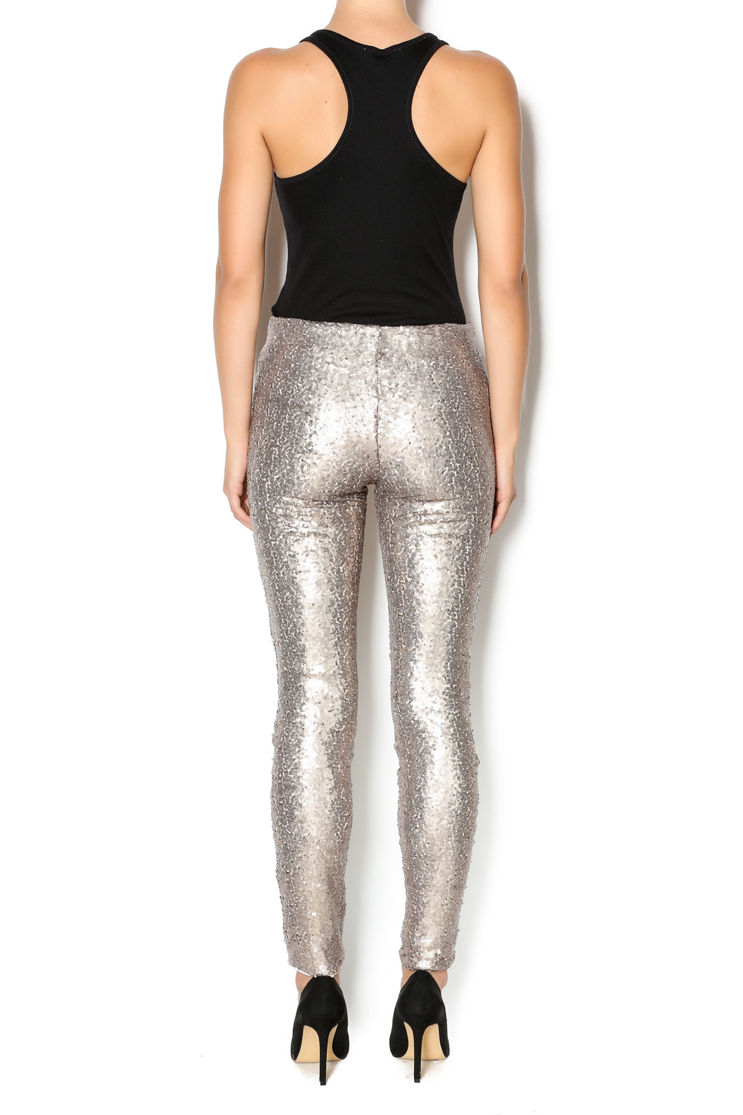 may and july inc Sequin Legging - Side Cropped Image