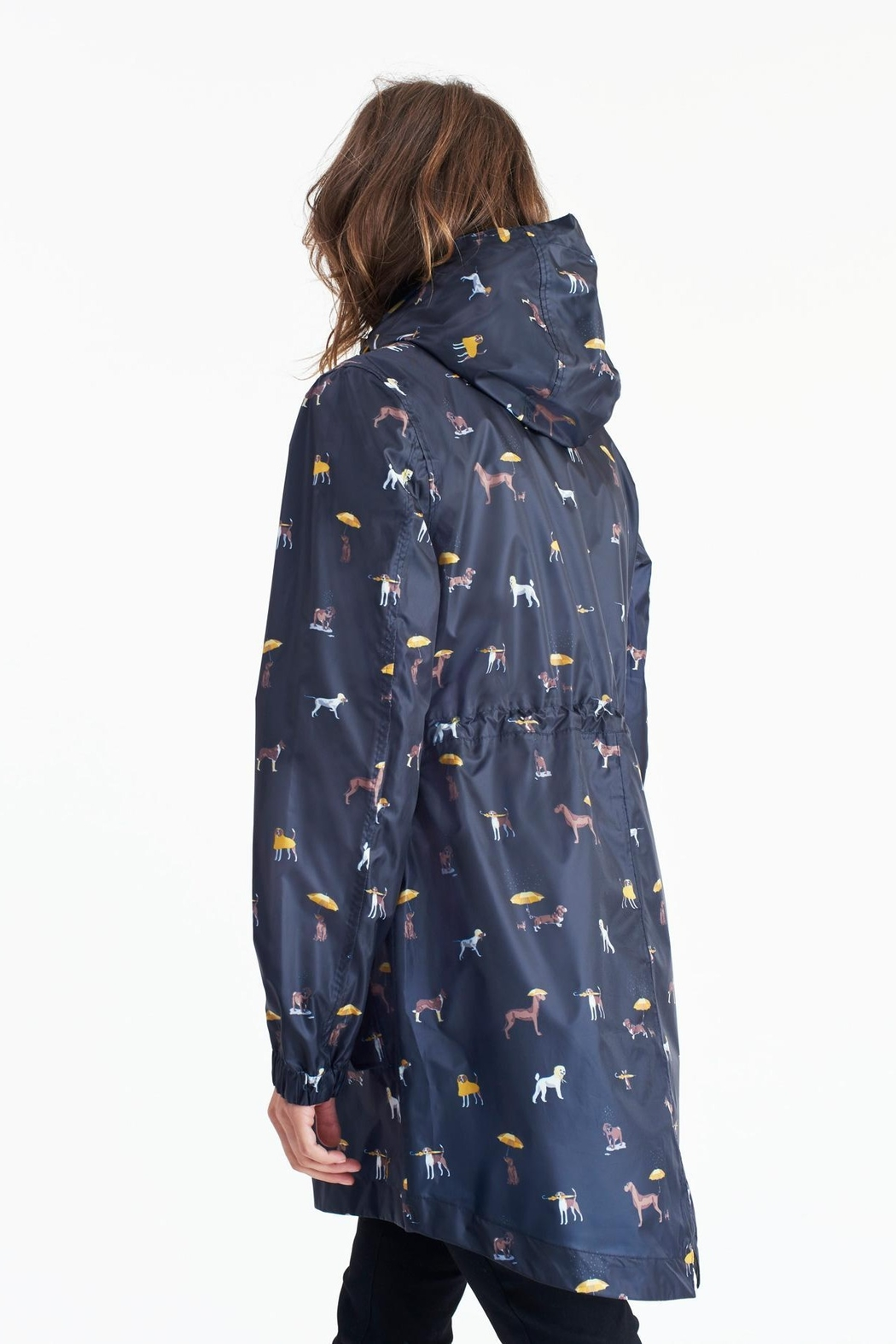Joules May Day Dogs Packaway Rain Jacket - Front Full Image