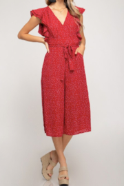 She & Sky  May Flounce Sleeve Jumpsuit - Product Mini Image