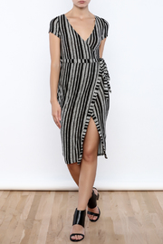 May Pink Stripe Wrap Dress - Product Mini Image