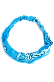 May 23 Aqua Paisley Headband - Front cropped