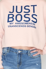 May 23 Just Boss Hoodie - Back cropped