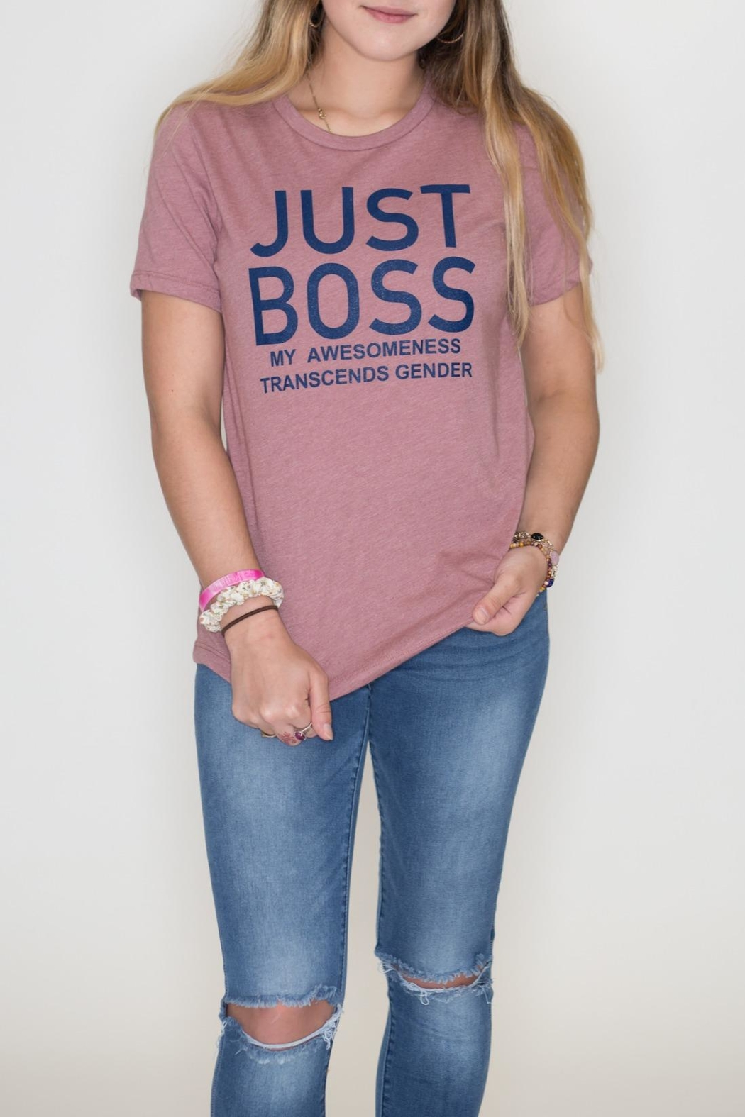 May 23 Just Boss Tee - Front Cropped Image