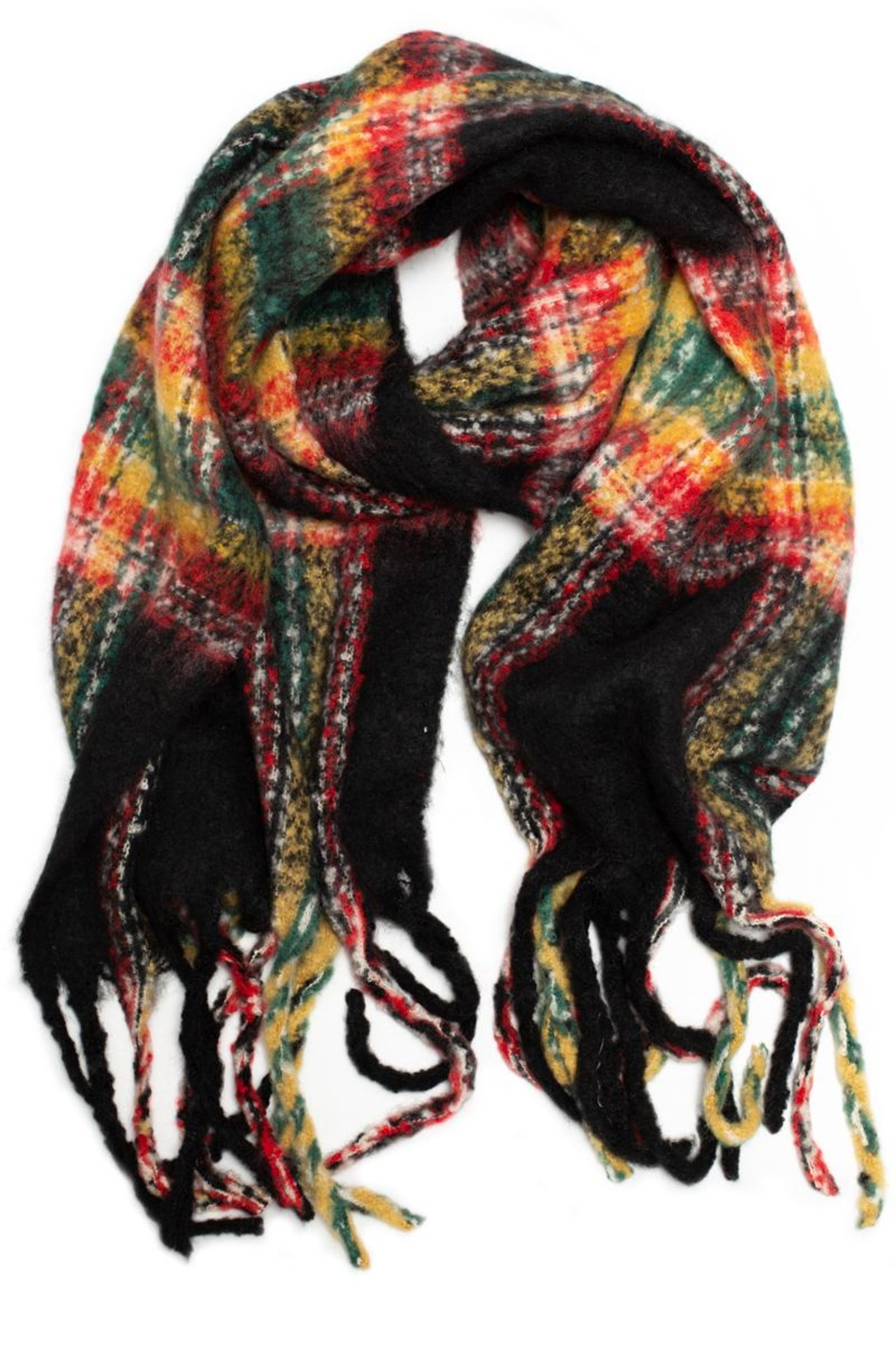 May 23 Plaid Oblong Scarf - Main Image