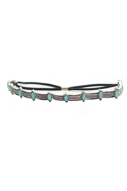 May 23 Turquoise Tribal Headband - Front cropped