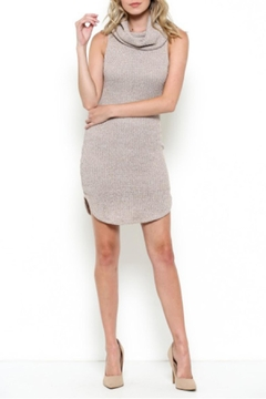 May Pink Turtleneck Cute Dress - Product List Image