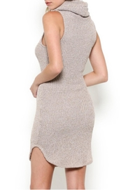 May Pink Turtleneck Cute Dress - Side cropped