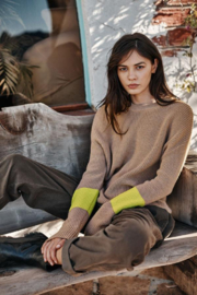 Velvet by Graham and Spencer Maya 2 Tone Sweater - Front cropped