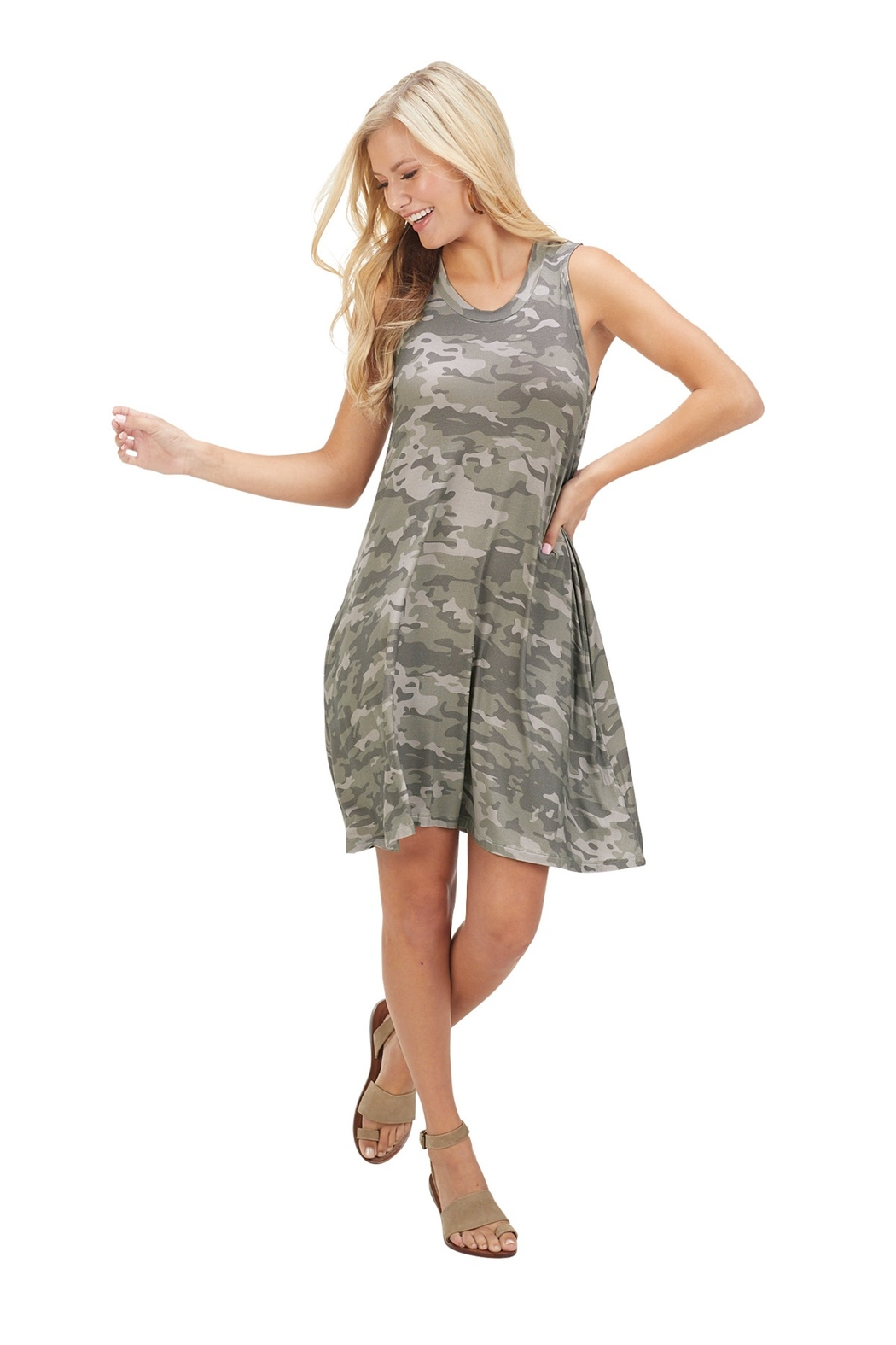 Mud Pie  Maya Camo Dress - Front Cropped Image