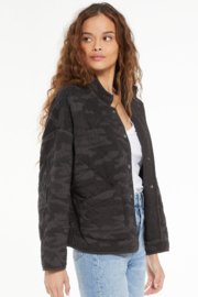 z supply Maya Camo Quilted Jacket - Side cropped