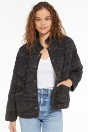 z supply Maya Camo Quilted Jacket - Front cropped