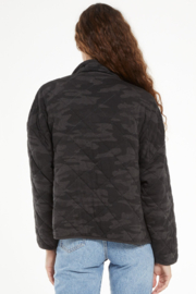 z supply Maya Camo Quilted Jacket - Front full body