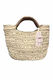 Fallon & Royce Maya Micro Mini Straw Bag - Front cropped