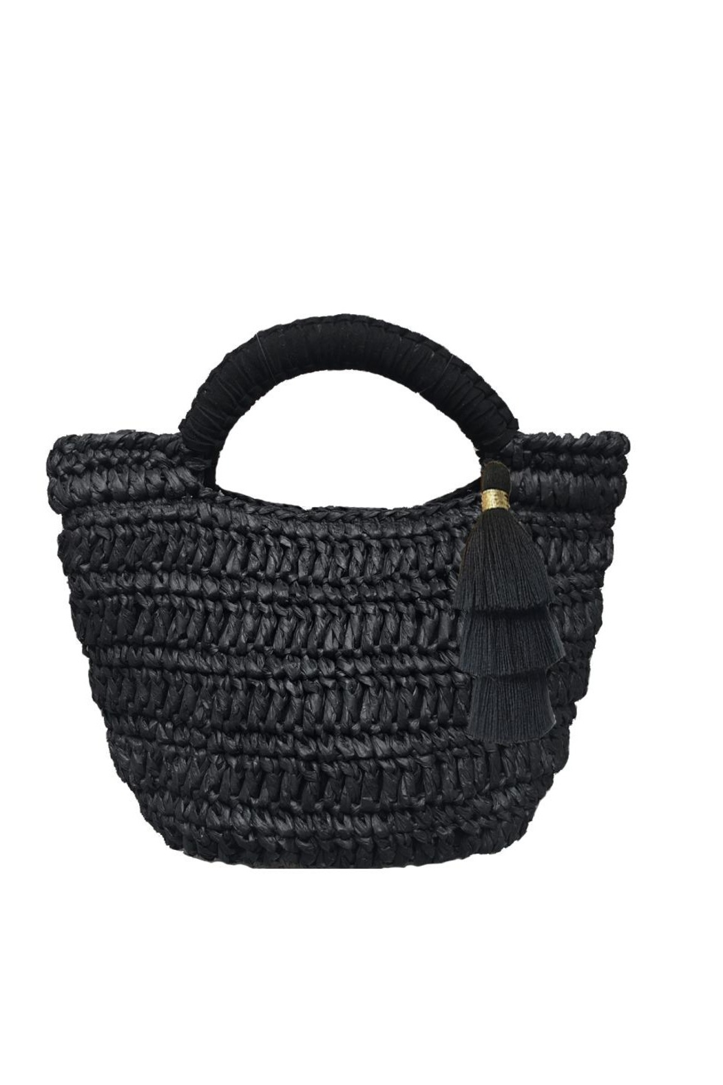 Fallon & Royce Maya Micro Mini Straw Bag - Main Image