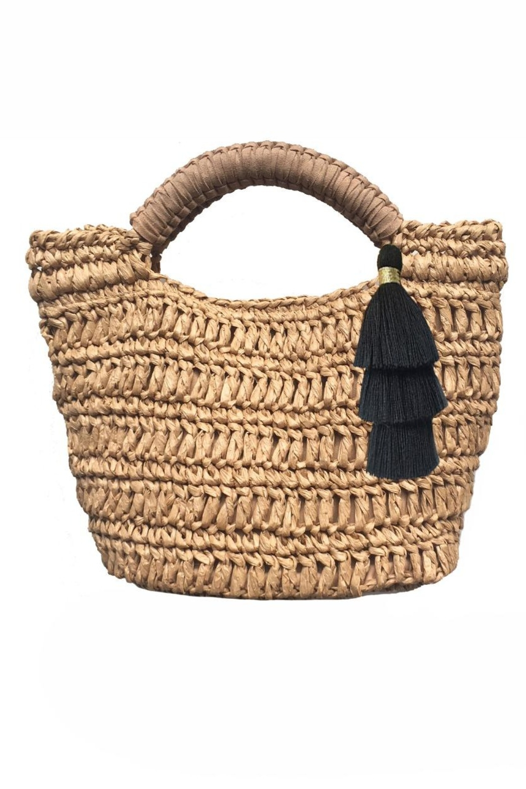 Fallon & Royce Maya Micro Mini Straw Bag - Front Cropped Image
