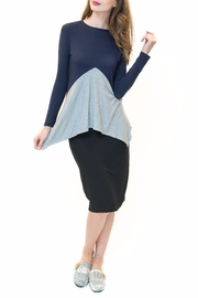 Maya's Place Asymmetrical Combo Color Top - Front cropped