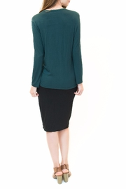 Maya's Place Asymmetrical Combo Color Top - Side cropped