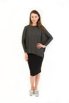 Shoptiques Product: Asymmetrical Dry-Texture-Yarn Top